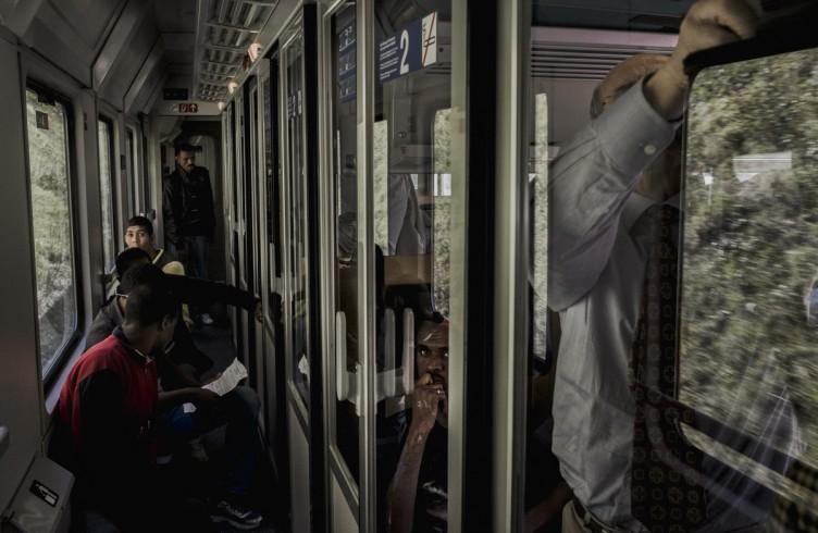 Rifugiati sul treno per Monaco di Baviera