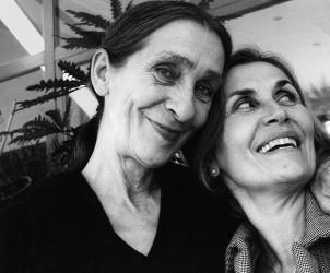 Pina Bausch con Leonetta Bentivoglio a Roma nel 2006, foto di Ninni Romeo