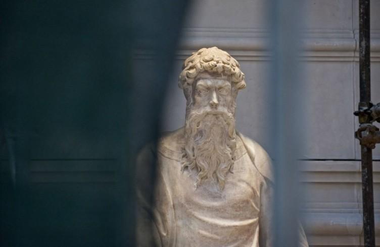 Donatello, San Giovanni Evangelista, allestimento del nuovo Museo dell'Opera del Duomo, Firenze, Foto Opera del Duomo / Claudio Giovannini