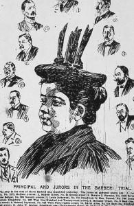 Maria Barbella e giurati al processo d'appello, 1896